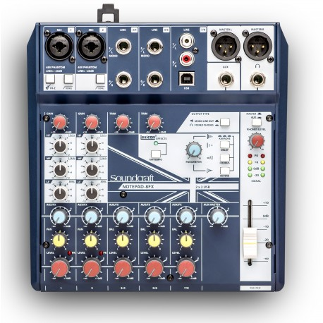 Mezclador SOUNDCRAFT NOTEPAD-8FX