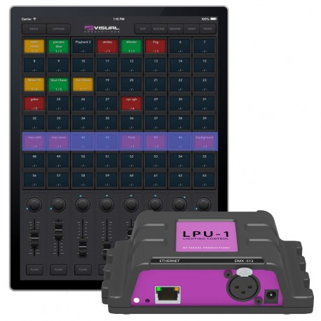 Control DMX VISUAL PRODUCTIONSCuety LPU